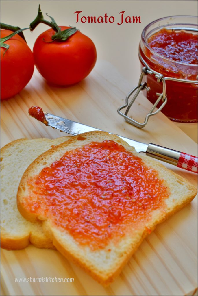 Tomato Jam Recipe | Homemade Tomato Jam - Sharmi's Kitchen